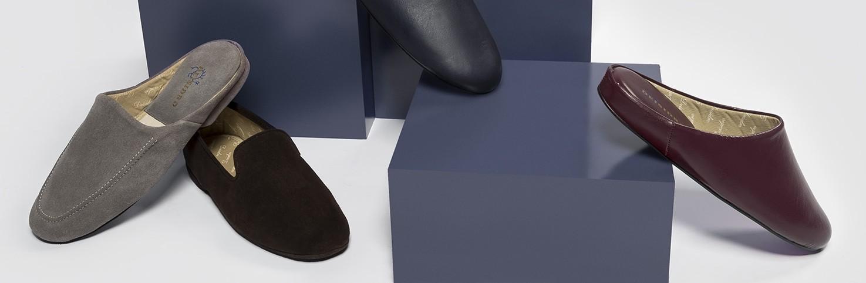 Confort | Zapatillas de andar por casa para Hombre | Chinelas de piel