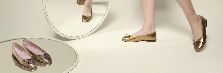 Metalizado | Bailarinas de Mujer Metalizadas | Manoletinas metalizadas