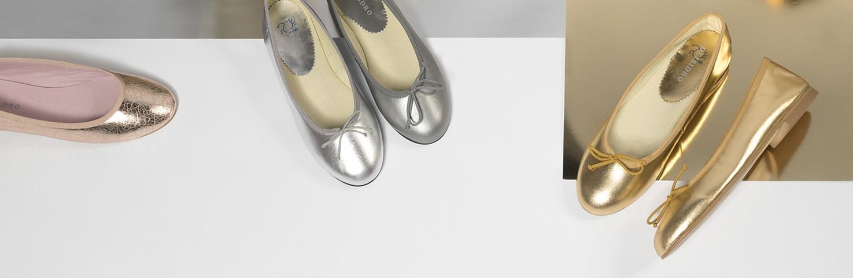 Metalizado | Manoletinas Metalizadas para Niñas | Zapatos Niña de piel