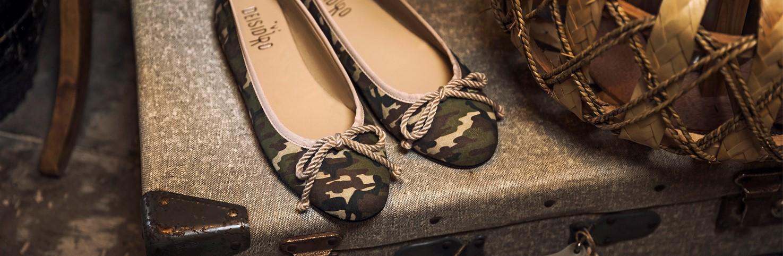 Bailarinas Camuflaje | Manoletinas para Mujer con estampado Militar