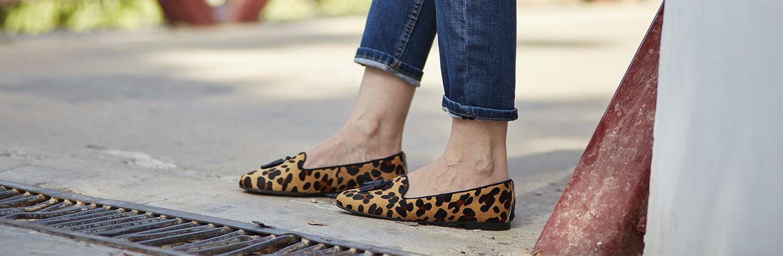 Animal Print/Serraje/Calzado para mujer Animal Print Leopardo/ serraje